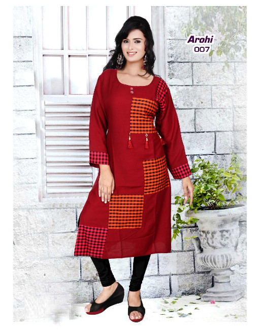 Rs 261 Piece - Arohi Stitched kurti Wholesale Catalog 10 pcs