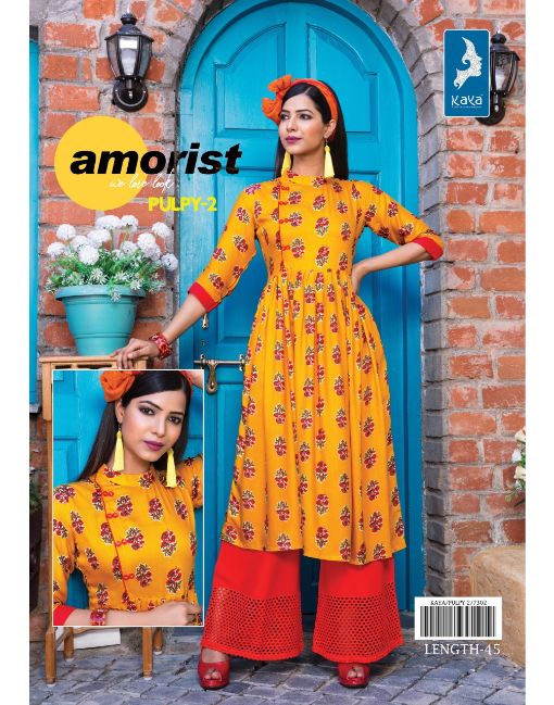 Rs 421 Pc Kaya Pulpy Vol 2 Stitched Kurti Wholesale Catalog 09 pcs