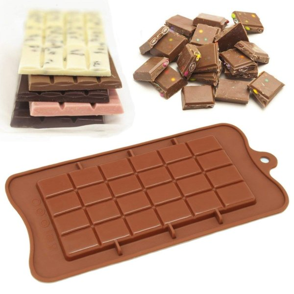 1076 Silicon Bar chocolate Baking Mould of 24-Cavity - Bulkysellers.com