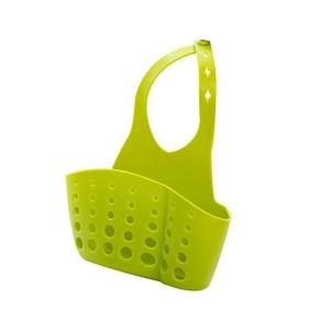 0762 Adjustable Kitchen Bathroom Water Drainage Plastic Basket/Bag with Faucet Sink Caddy - Bulkysellers.com