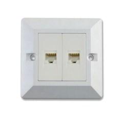 Rj45 Wall Outlet Wiring Diagram Pioneer P1400dvd Mep Bd2984 Double Module Cat 6 Lan Network Box White