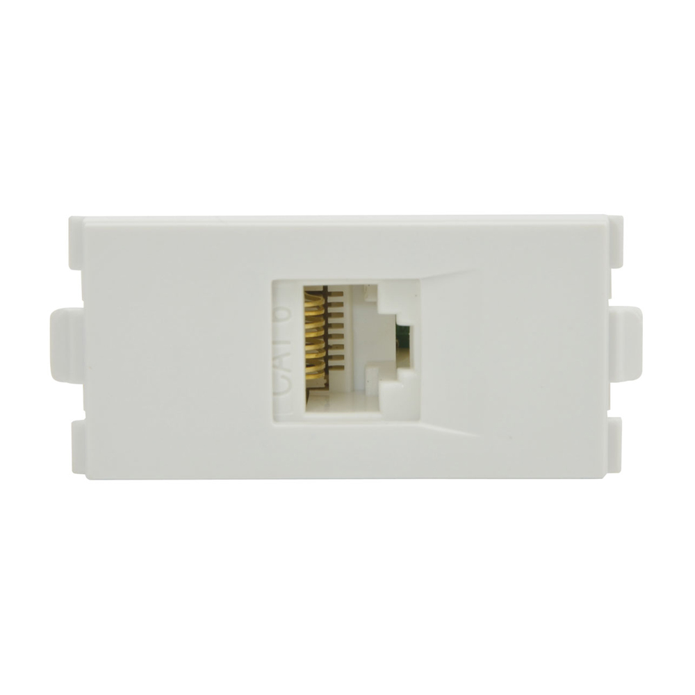 hight resolution of double module cat 6 rj45 lan network wall box white
