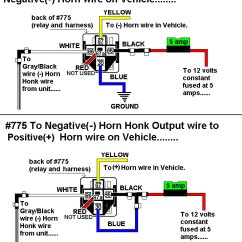 Horn Wiring Diagram With Relay 2004 Chevy Impala Bcm New Page 1 Connecting Honk 775