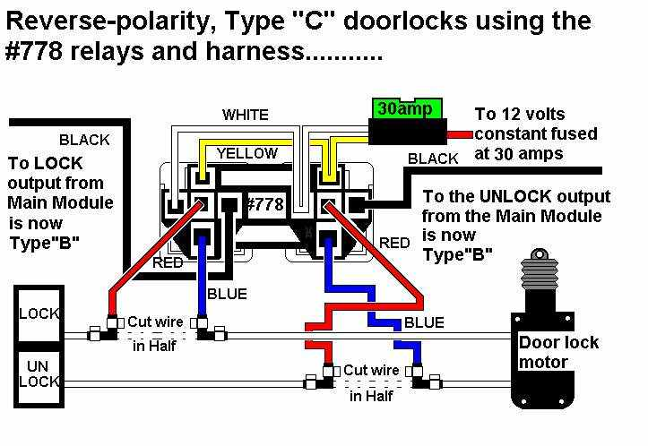778 RELAY For TYPE C DOOR LOCKS DIAGRAMJPG