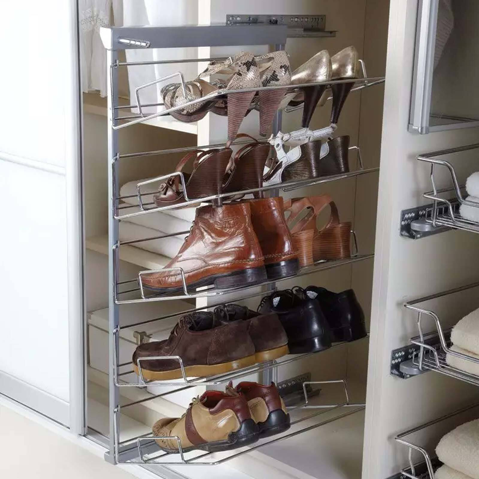 Five Tier Pull out Shoe Rack - Soft Close