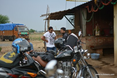 Bulleteer, Royal Enfield Riders from Gwalior, ride to Bateshwar. A beautiful temple complex on the banks of Yamuna, near Bah in Uttar Pradesh