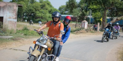 Bulleteers ride from gwalior to Jain Temple Cluster, Sonagir