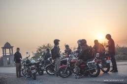 Bulleteers ride to Fort Rampura in District Jalaun for lunch