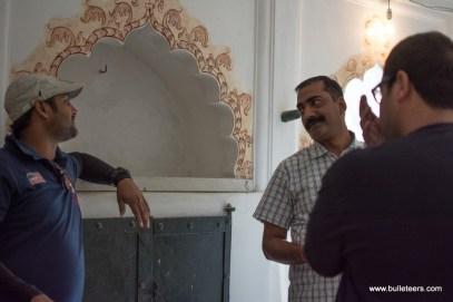 Bulleteer Dinesh Gupta listening to Mr Keshavendra at Fort Rampura