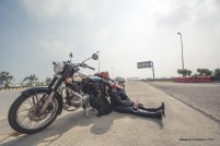 On the Yamuna Expressway while on the way to Kiker Lodge for Rider Mania 2015