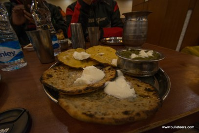 At the Sukhdev Dhaba near Sonepat, while on the way to Kiker Lodge for Rider Mania 2015
