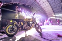 The mountain dew motorcycle, which was the customized royal enfield give away for the raffles at rider mania 2015
