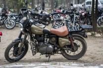 A good looking royal enfield desert storm at the rider mania 2015