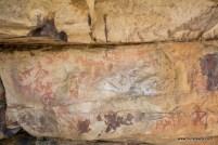 Prehistoric cave paintings at Likhichaj, Pahadgarh