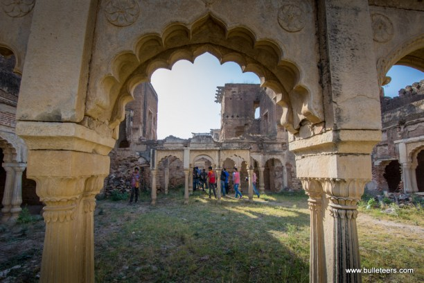 Bulleteers ride to the Gohad fort for breakfast ride on sunday