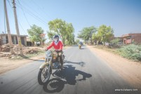 amit kukreja riding his royal enfield desert storm while returning from ride to gohad fort