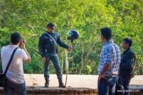 Bulleteers on the way to Nalkeshwar, Gwalior