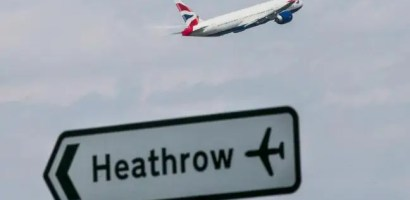 Reportedly drone hits plane in London