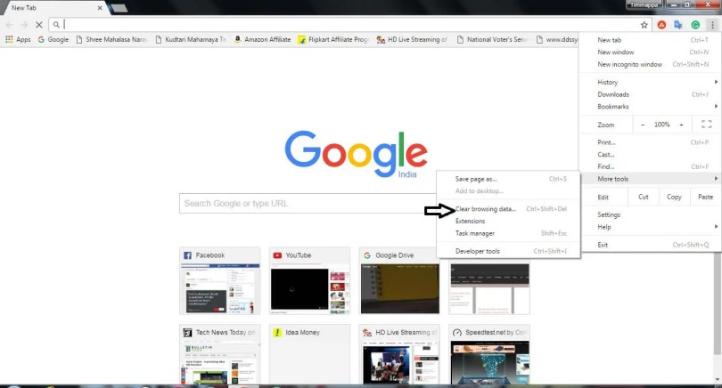 Clear Google Chrome Cache