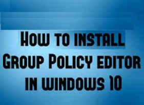 How to install Group Policy Editor on Windows