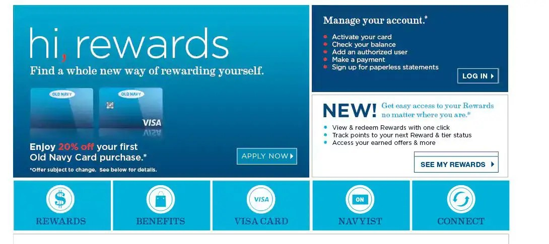 Old Navy Card Login - The Complete Details