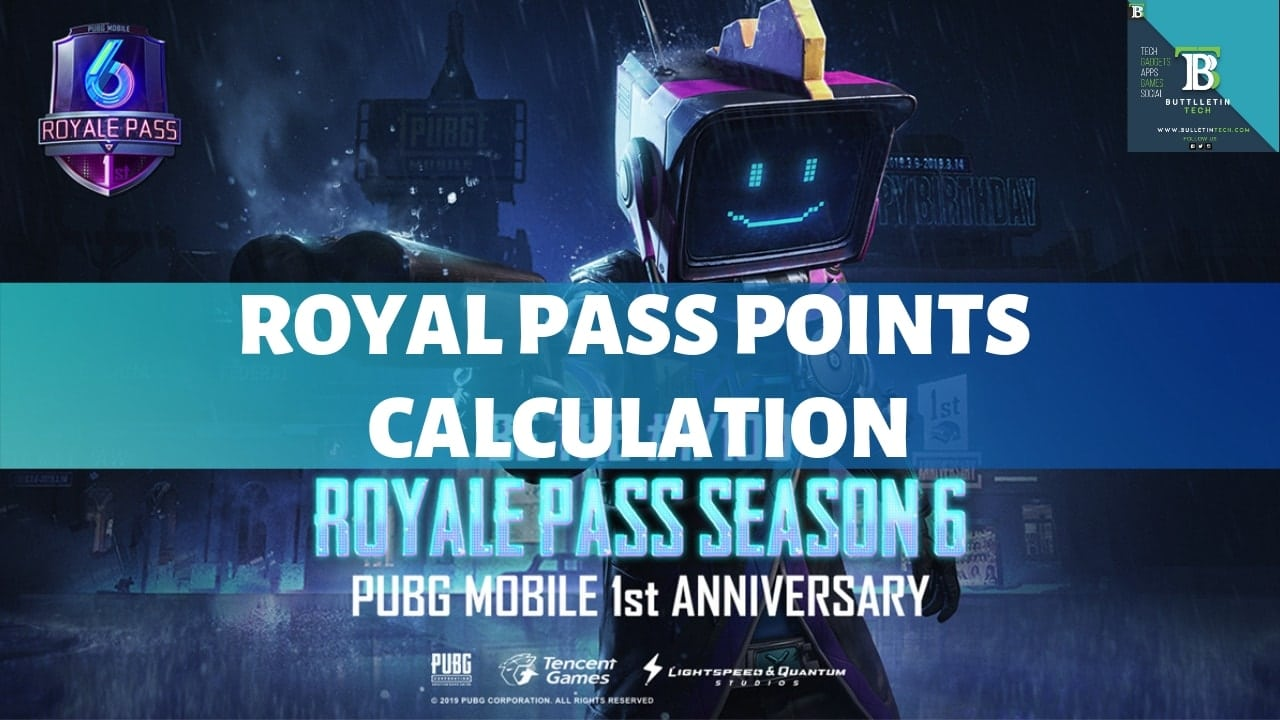 Pubg Mobile Season 6 Royal Pass Points Overview Bullet In