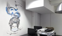 ASB Office Wall Mural & Illustrations | bulletonastring.com