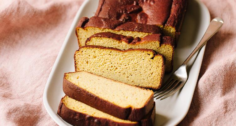 Sliced loaf of pumpkin collagen bread