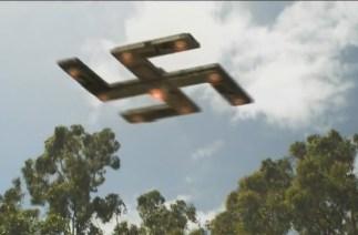 a flying swastika