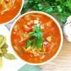 Zupa gulaszowa z młodą kapustą