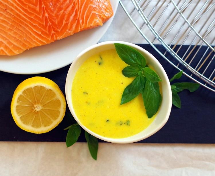 Sos cytrynowo-bazyliowy do ryby