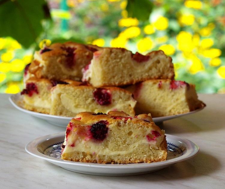 Ciasto ucierane z serem i owocam 2