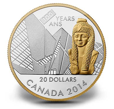 2014 - $20 1 oz. Fine Silver Coin - 100th Anniversary of the Royal Ontario Museum