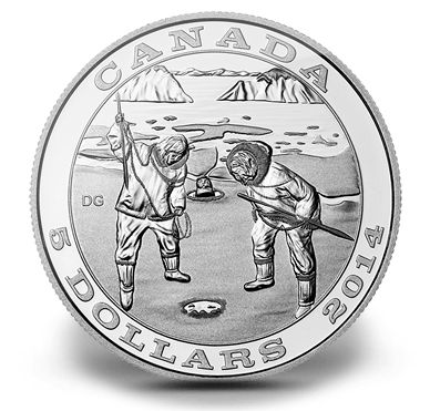 2014 - $5 Dollars Fine Silver Tradition of Hunting : The Seal
