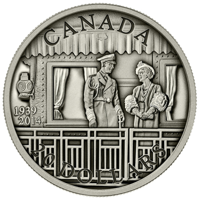 2014 - $20 1 oz. Fine Silver Coin - 75th Anniversary of the First Royal Visit