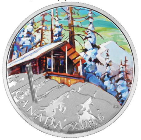 2016 - $20 Fine Silver Coin - Canadian Landscape Series - Ski Chalet