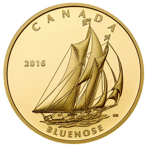 2016 - $200 Pure Gold Coin - Tall Ships Legacy : Bluenose