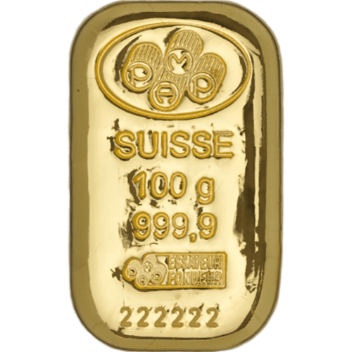 Gold Cast 100g Bar PAMP