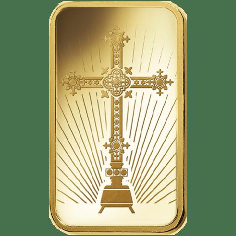 Gold Cross 10g PAMP Bar