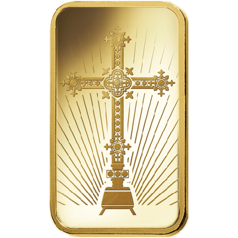 Gold Cross 5g PAMP Bar