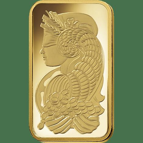 Gold Fortuna 1 oz PAMP Bar
