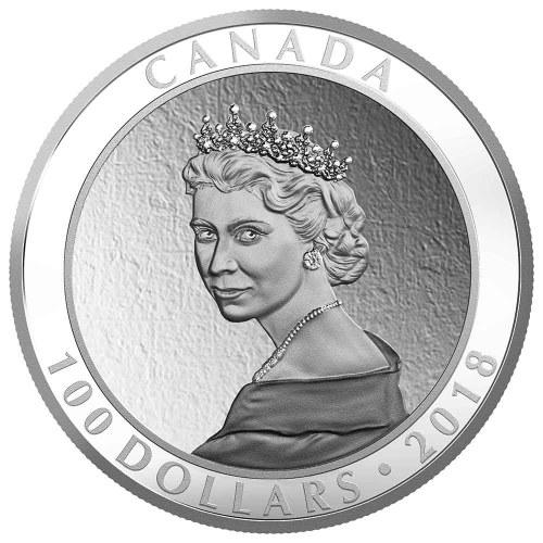 2018 $100 FINE SILVER COIN - PORTRAIT OF A PRINCESS - Obverse