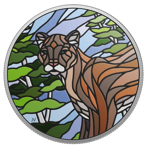 2018 $20 Fine Silver Coin Canadian Mosaics – Cougar