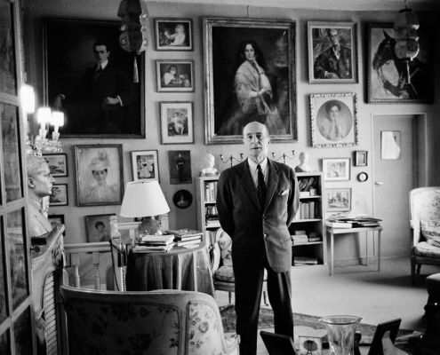 Felix Yusupov in his Paris apartment, 1960's