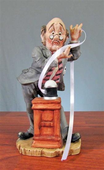 Ceramic Lefton Stockbroker Figurine  Stockbroker Statue