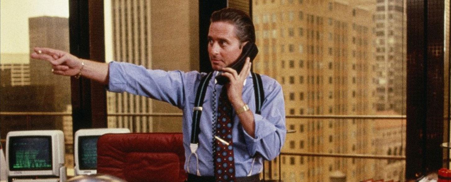 L'avidità, in termini di commissioni chieste ai sottoscrittori dei fondi di investimento di Wall Street e non solo, è ben rappresentata da Gordon Gekko