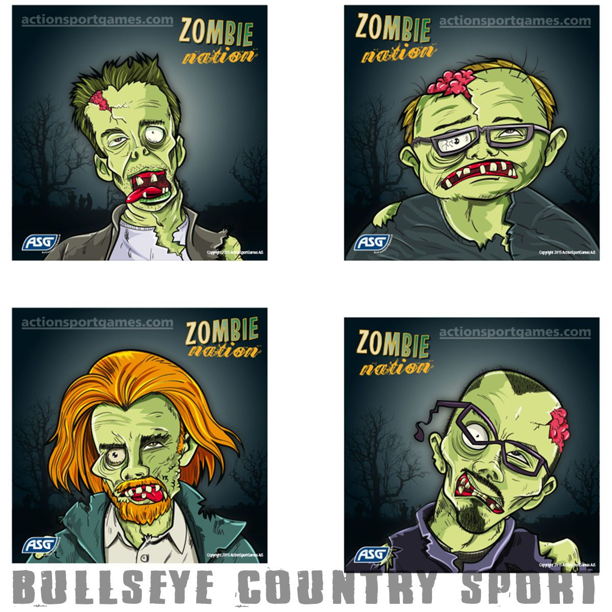 Asg Airsoft Zombie Practice Targets 14cm 100 Pack 4