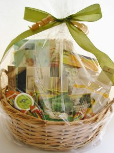 Our Get Well Basket features comforting edibles and relaxing non-edible goods