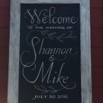 bumbleBdesign's Wedding Welcome Chalkboard in Calligraphy, Seattle WA