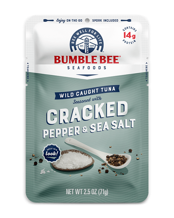 BUMBLE BEE® Cracked Pepper & Sea Salt Seasoned Tuna Pouch With Spork